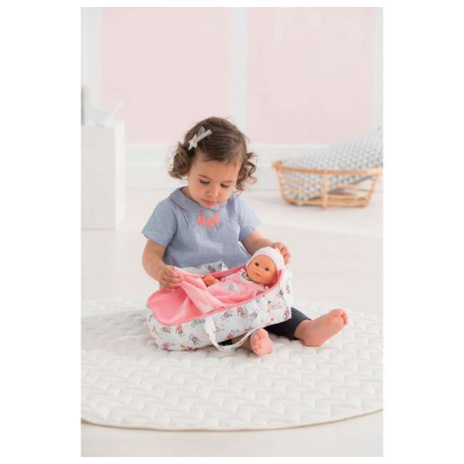 FRN89 Corolle Mon Premier Poupon Carry Travel Bed Accessory for 12 Inch Baby Dolls 2
