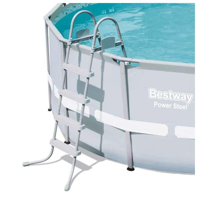 "56445E-BW-U-A Bestway 14' x 48"" Power Steel Frame Above Ground Pool Set 2"