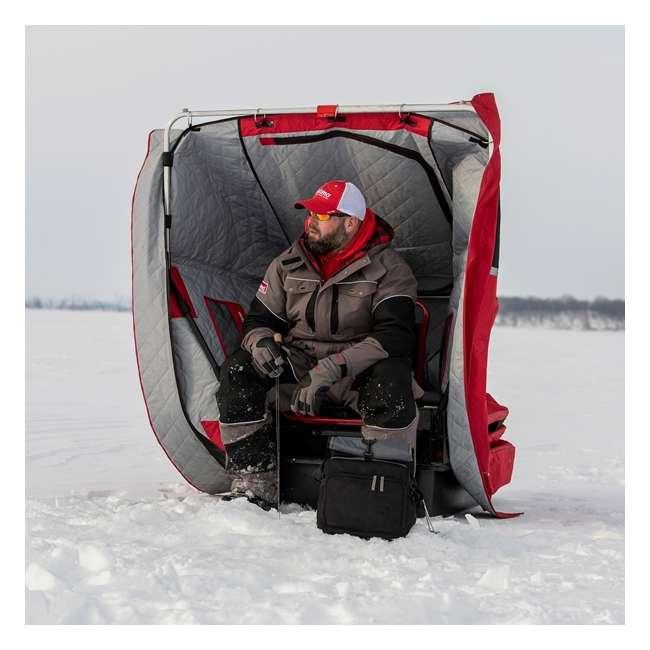 ESK-15350  Eskimo ESK-15350 Wide 1 Inferno Expandable Flip Style Ice Fishing Shelter, Red 2