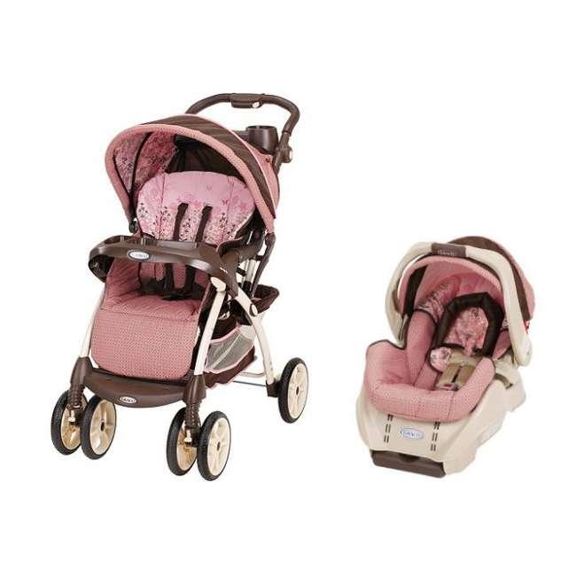 1760752 + 1760832 Graco Vie4 Baby Stroller & SnugRide Car Seat Travel System - Olivia