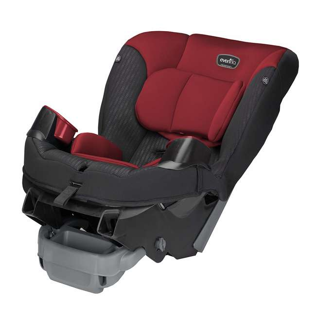 34812023 Evenflo Sonus 2 in 1 Convertible Travel Infant Baby Toddler Car Seat, Rocco Red 3