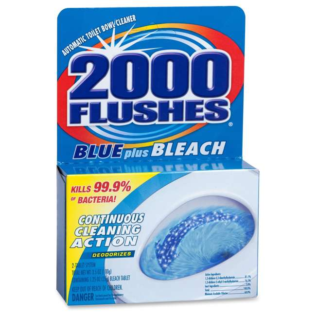 WD-208017 2000 Flushes Continuous Cleaning Action Chlorine Toilet Bowl Cleaner with Bleach