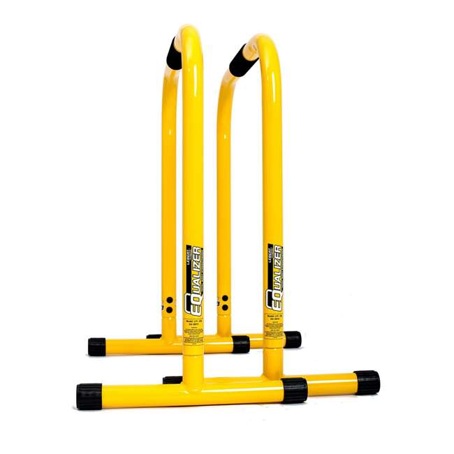 LFI-EQ-YELLOW Lebert Fitness Total Bodyweight Strengthener Stainless Steel Equalizer, Yellow