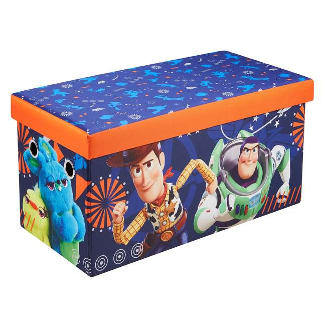 520021-002 Fresh Home Elements 30-Inch Licensed Folding Super Toy Chest & Bench, Toy Story