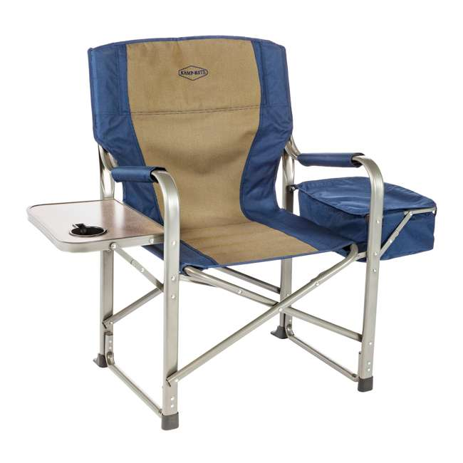 3 x CC118 Kamp-Rite Folding Director's Chair w/ Side Table & Cooler (3 Pack) 5