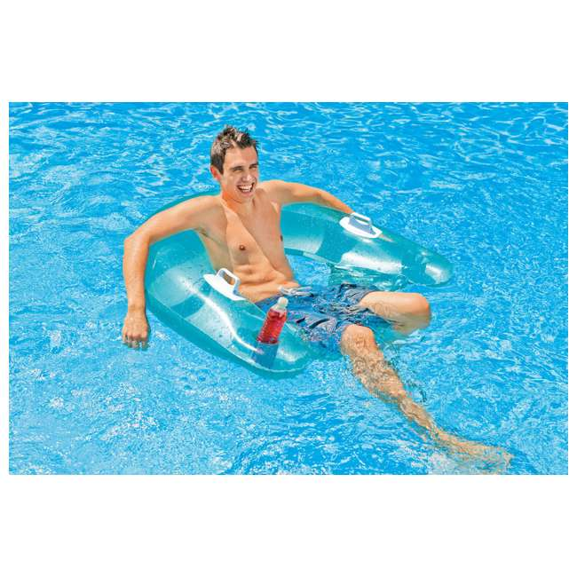 58859EP-U-A INTEX Sit'n Float Classic Inflatable Floating Raft Pool Tube (Open Box) (2 Pack) 2