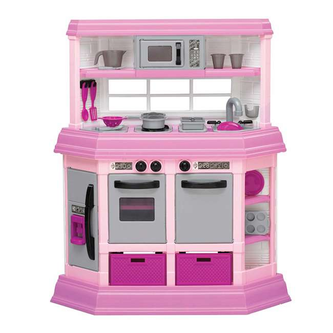 APT-11950 American Plastic Toys Kids Pink First Very Own Custom Kitchen Role Play Toy Set