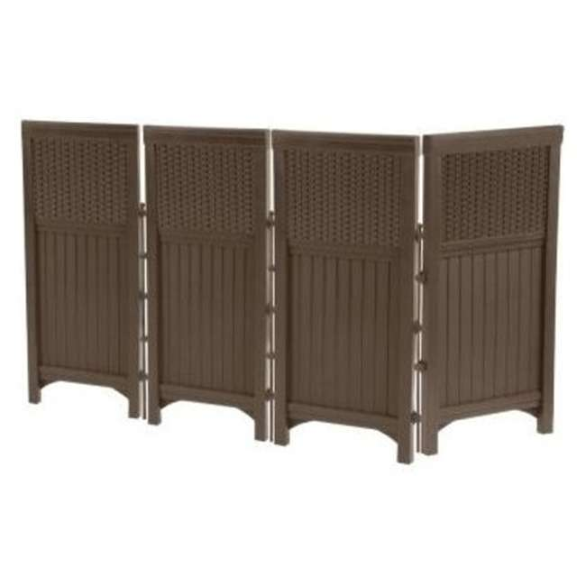 3 x FSW4423-U-A Suncast Outdoor Garden/Yard 4 Panel Enclosure Gate/Fence Java (Open Box)(3 Pack)