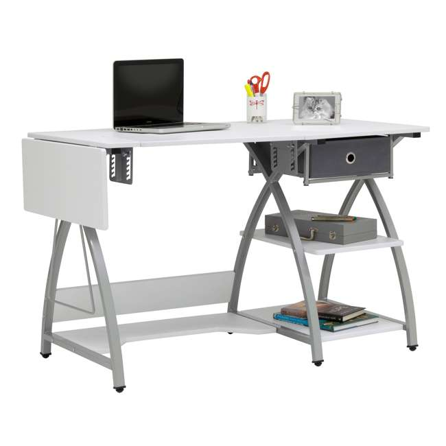 STDN-38018 Sew Ready STDN-38018 Venus Sewing Machine Craft Table Computer Desk, Silver 2