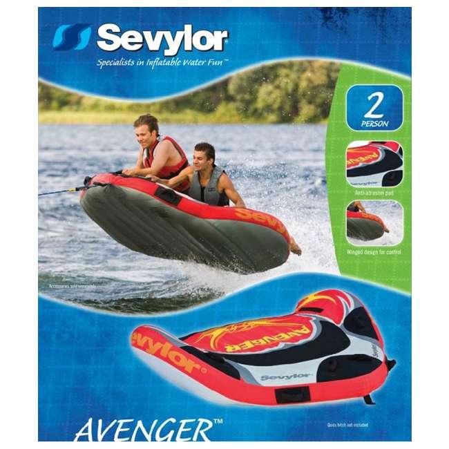 2000003918 Sevylor Avenger 2 Person Towable Water Tube 5