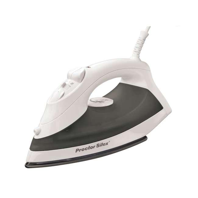 17202 Proctor Silex 17202 Nonstick Soleplate Steam Iron, Black/White