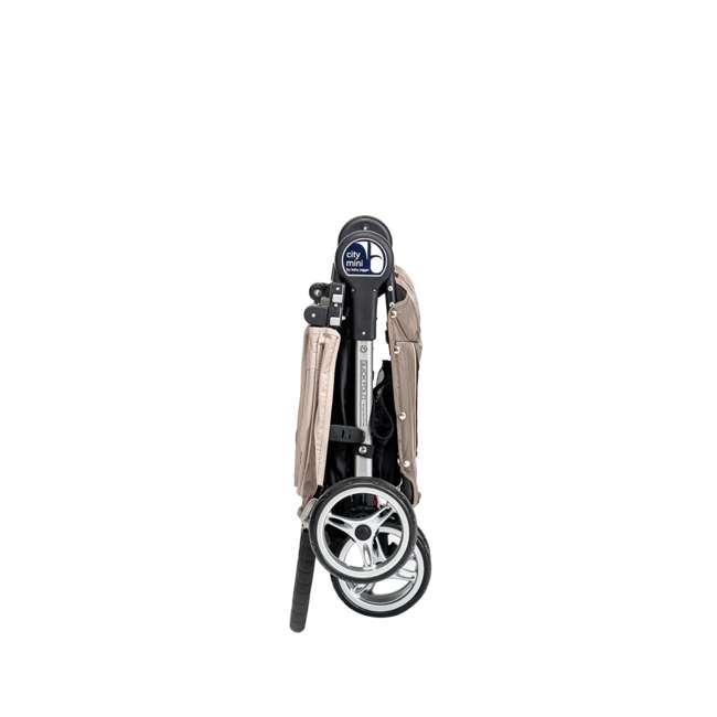 1959183 Baby Jogger City Mini Folding Travel Stroller, Sand/Stone 2