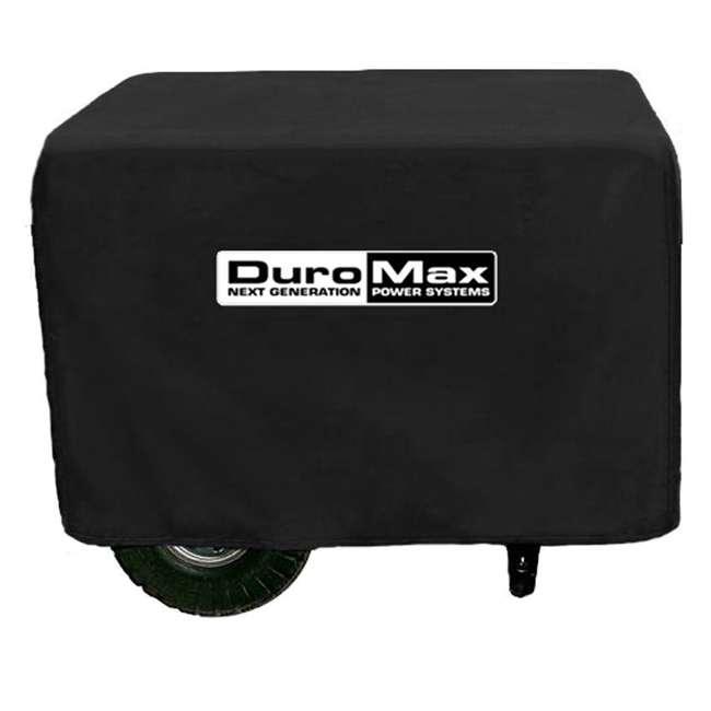 XP10000E + XPLGC DuroMax 10000 Watt Portable Gas Generator & Generator Cover, Black 2