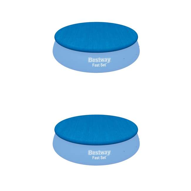 58035E-BW Bestway Flowclear Fast Set Pool Debris Cover for 15 Foot Round Pools (2 Pack)