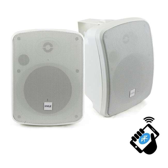 PDWR54BTW Pyle PDWR54BTW Bluetooth 600W Waterproof 5.25-Inch Powered Outdoor Speakers (Pair)