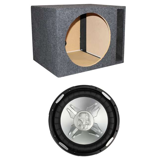P315W + QSBASS15 Power Acoustik P3-15W 15-Inch 2800W Subwoofer with Vented Subwoofer Box