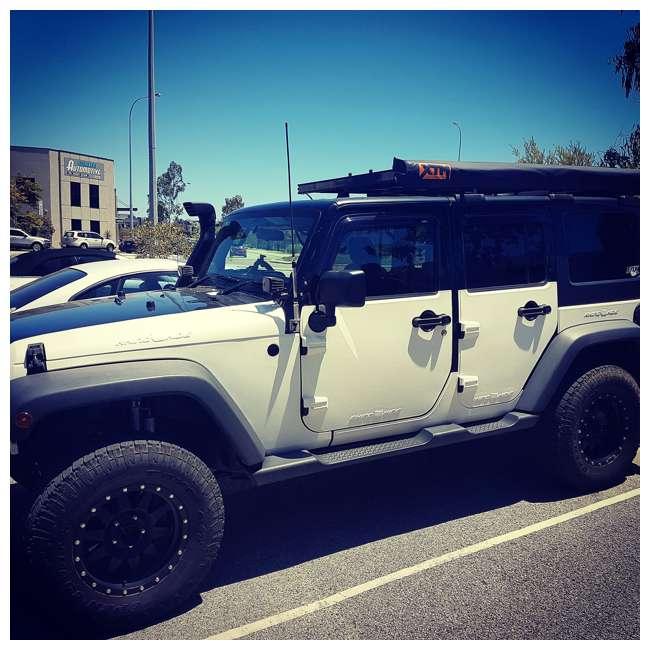 JPJKU4D-RHG Rhinohide Jeep Wrangler JK 4x4 4-Door Magnetic Body Armor Panels, Rhinohide Grey 4