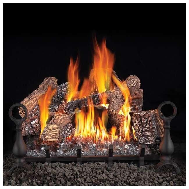 GL18NE-U-C Fiberglow 18 Inch Log Burner Set Insert for Natural Gas Fireplaces (For Parts) 1