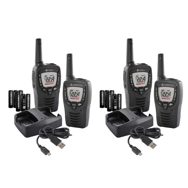 ACXT390 (4) Cobra MicroTalk 23 Mile FRS/GMRS 22 Channel 2-Way Radios | ACXT390