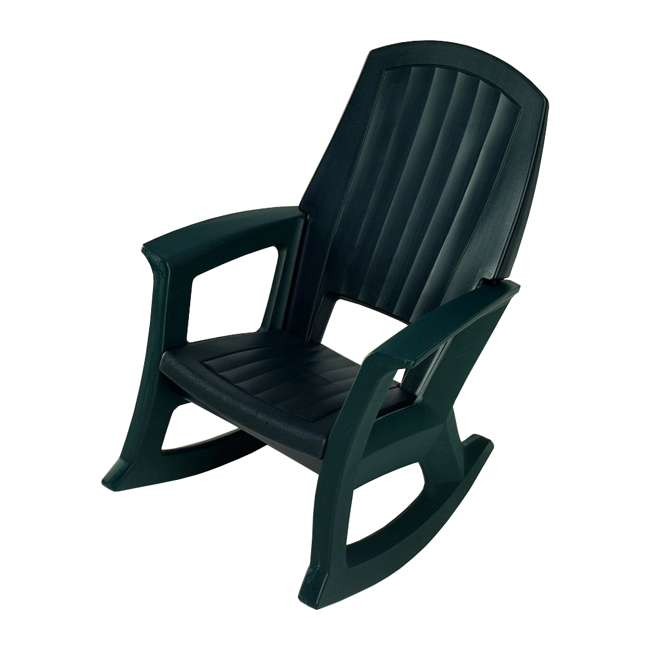 SEMG Semco Plastics SEMS Recycled Plastic Resin Outdoor Patio Rocking Chair, Green