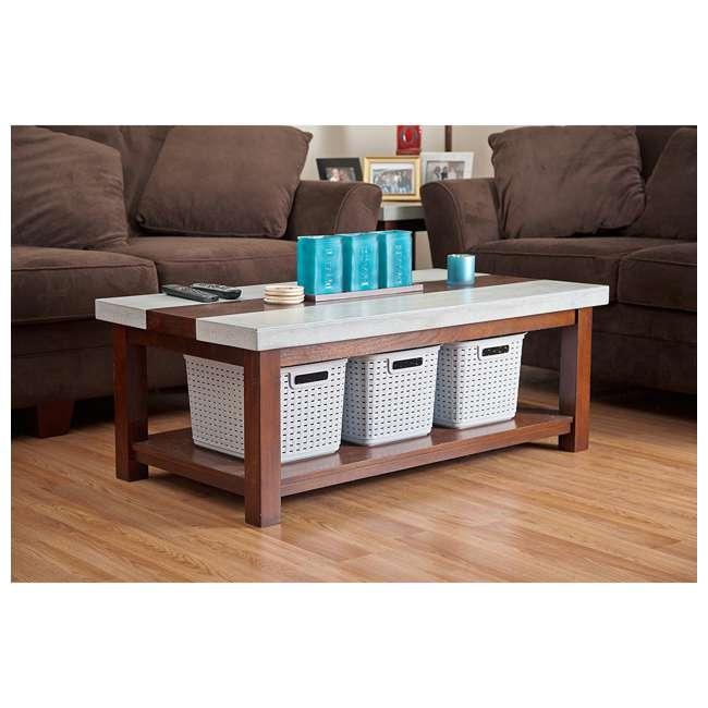 36 x 12736A06 Sterilite Plastic Laundry Hamper, Gray (36 Pack) 1