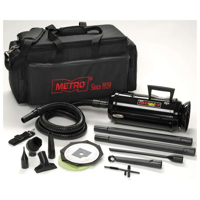 MDV-2TCA MetroVac DataVac Pro Series Toner Vac and Micro Cleaning Tools 1.17 HP Motor, Black