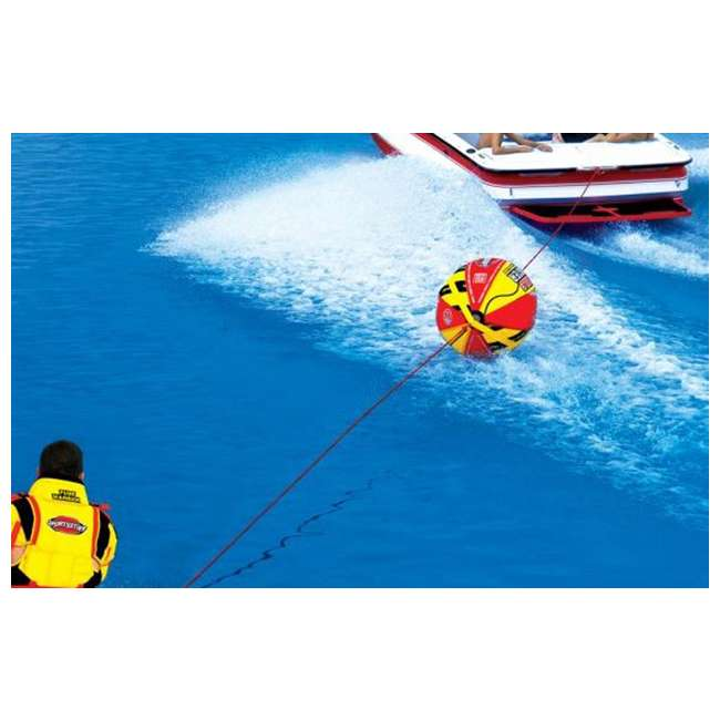 53-1329 + 53-2030 Sportsstuff 1-4 Person Boat Lake Tube | Airhead Sportsstuff Boat Tubing Booster Ball Towing System 8