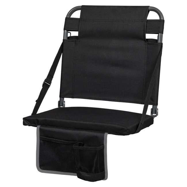 1-1-58810-DS Eastpoint Sports Adjustable Backrest Seat, Black (2 Pack) 1