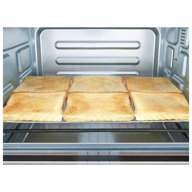 MC25CEY-SS Toshiba MC25CEY-SS 6 Slice Small Convection Pizza Toaster Oven, Stainless Steel 4