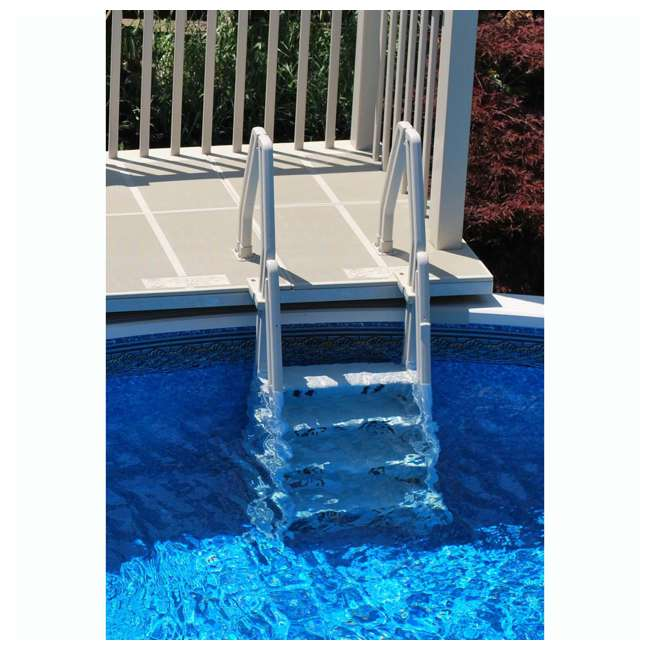"IN32-T Vinyl Works 32"" In-Step Ladder for Pools 46-60 Inches Tall, Tan (2 Pack) 3"