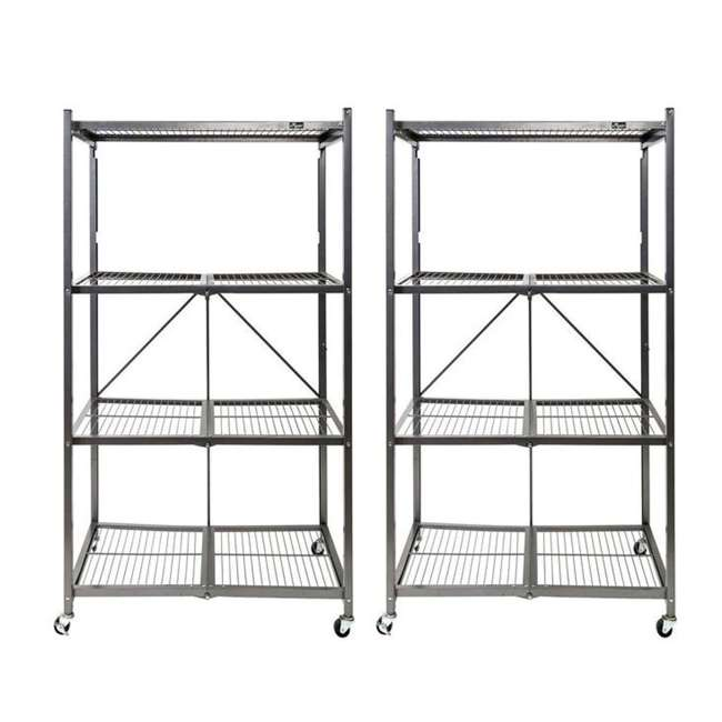 2-Pk Origami 4-Shelf Large Heavy-Duty Storage Rack and Shelf