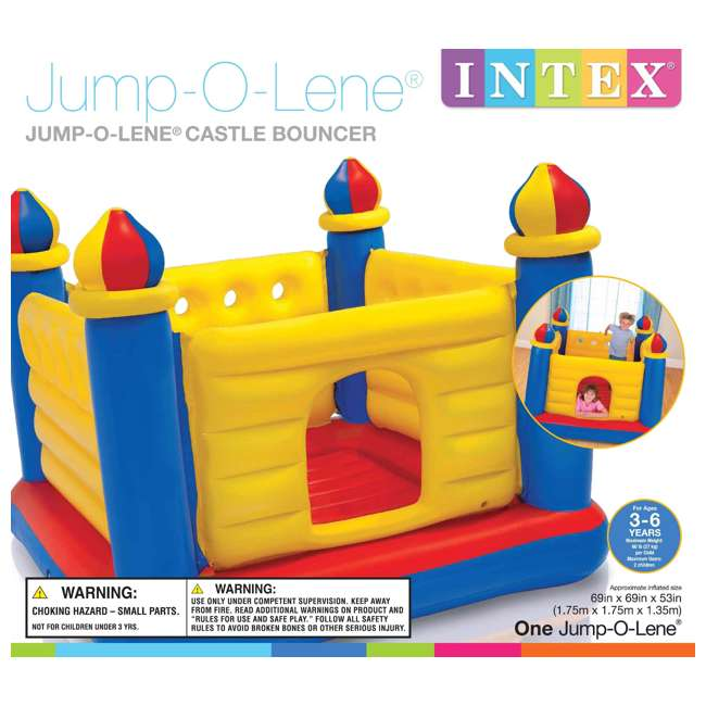 48259EP-U-A INTEX Inflatable Jump-O-Lene Ball Pit Castle Bouncer  (Open Box) (2 Pack) 5