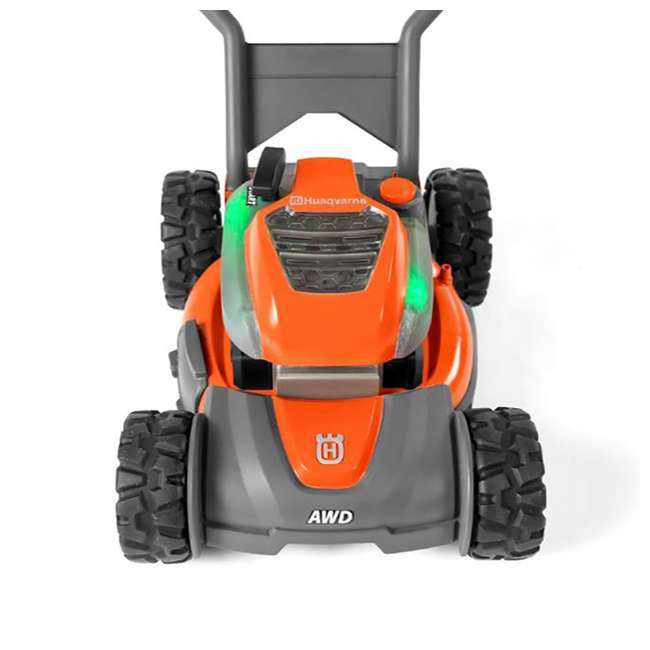 HV-WB-961480062 + HV-TOY-589289601 Husqvarna Walk Behind Mower Electric Start Gas Powered Toy Lawn Mower for Kids 8