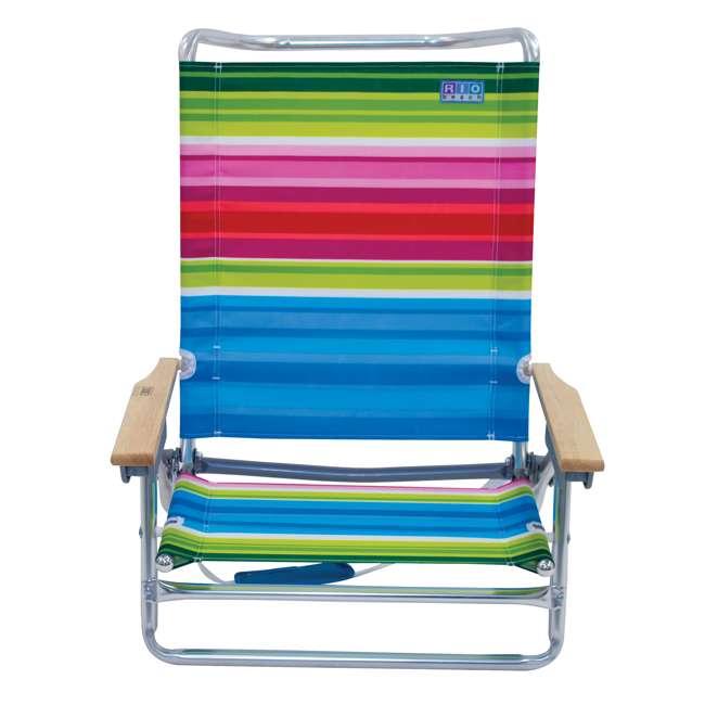 ASC590-1803-1 Rio Classic 5 Position Aluminum Lay Flat Folding Beach Lounge Chair, Beach Club 3