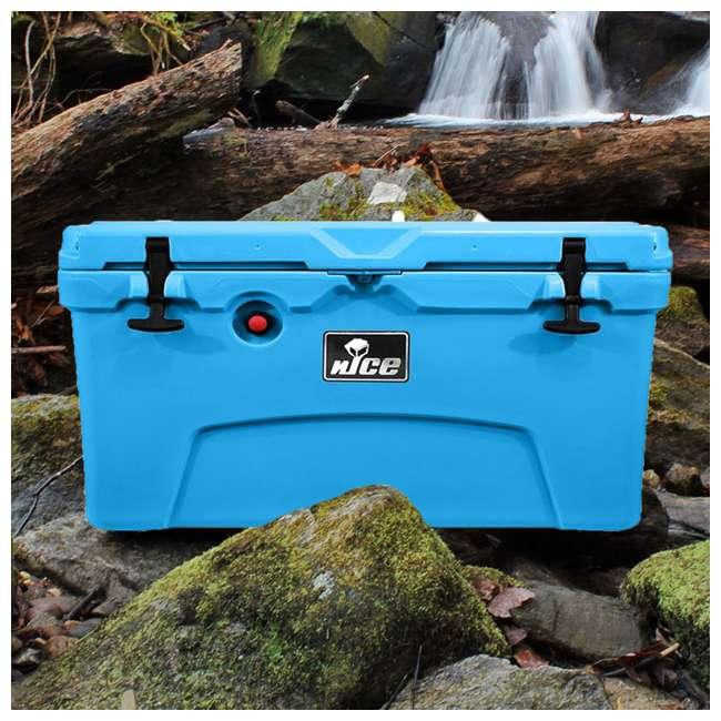 CKR-511545 nICE 45 Quart Bear Resistant Cooler, Light Blue 4
