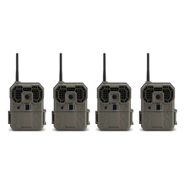 4 x STC-GX45NGW-RB Stealth Cam GXW Wireless Game Camera, 4 Pack (Certified Refurbished)