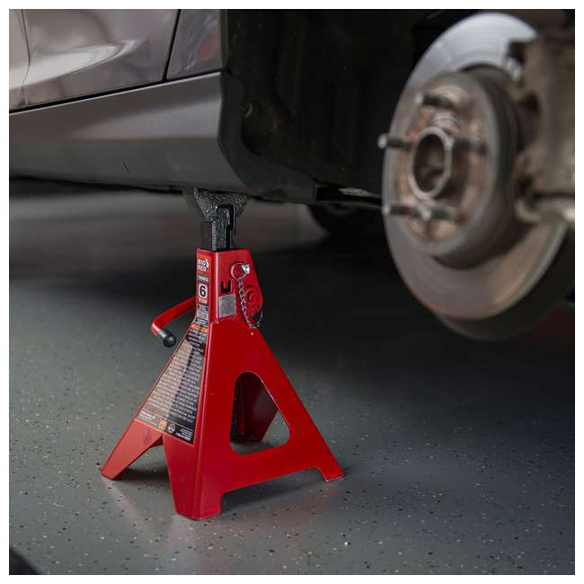 TOR-T46002A-U-D Torin Big Red 6 Ton Capacity Double Locking Steel Jack Stands, 1 Pair (Damaged) 4