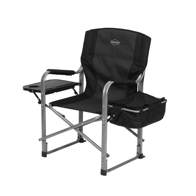 CC119 Kamp-Rite Director's Chair with Table, Cooler, and Bottle Opener