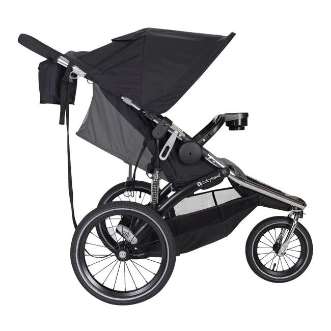 JG35A55A Baby Trend Sleek Chrome Frame Dual Suspension Falcon Jogger Stroller, Black 1