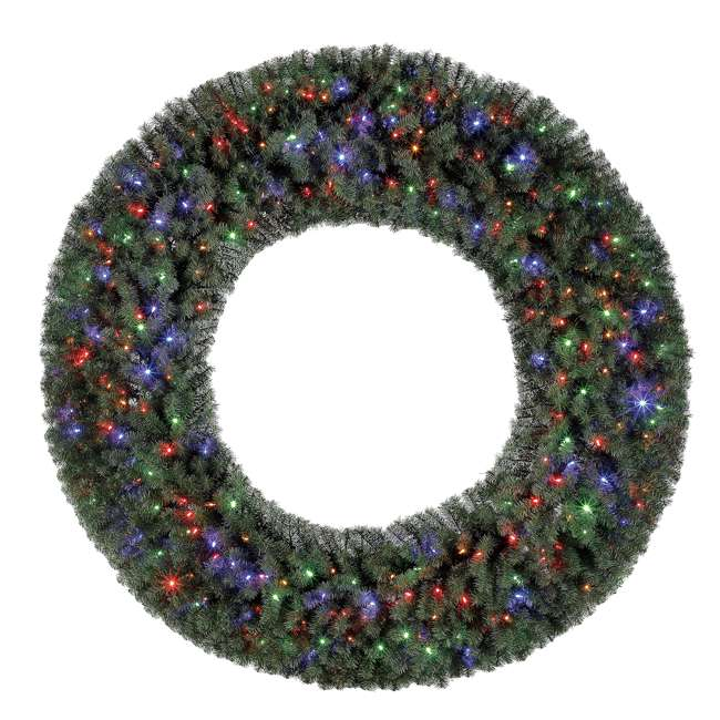 GD6000CYKD00 Home Heritage 72 Inch Holiday Christmas Wreath X1500 Tip w/ 400 Color LED Lights