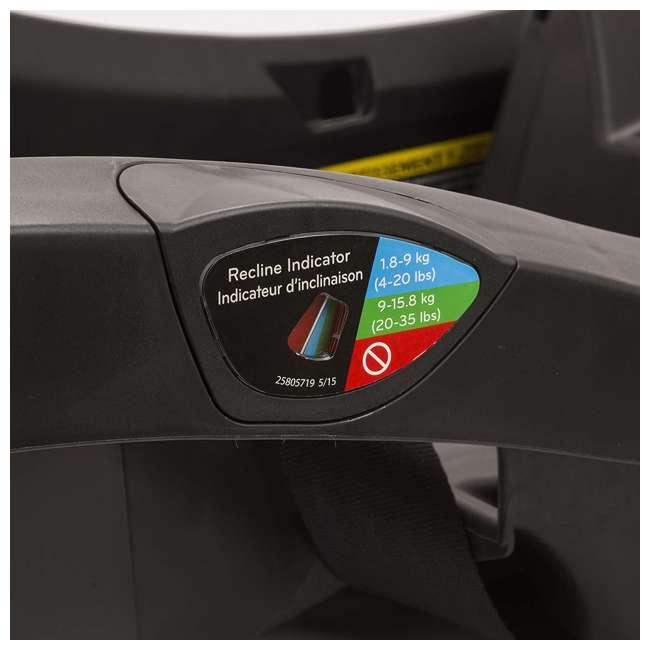 6391600 Evenflo LiteMax 35 Infant Rear Facing Durable Car Seat Attachment Base, Black 3