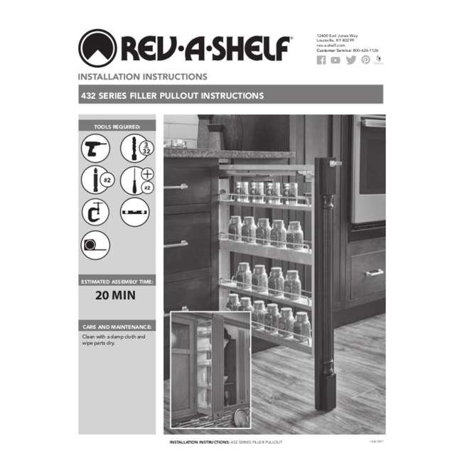 432-WF-3C Rev-A-Shelf 432-WF-3C 3 x 30 Inch Pull Out Between Cabinet Wall Filler Organizer 4