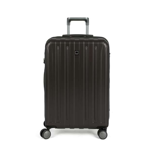 """00207182000 DELSEY Paris Titanium 25"""" Expandable Checked Spinner Rolling Luggage Suitcase"""