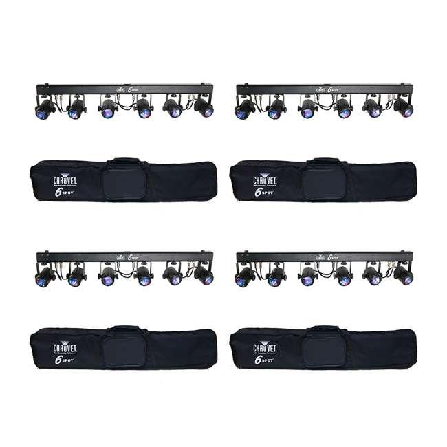 4 x 6-SPOT Chauvet 6-Spot LED Dance Effect Light Bar System   6SPOT (4 Pack)