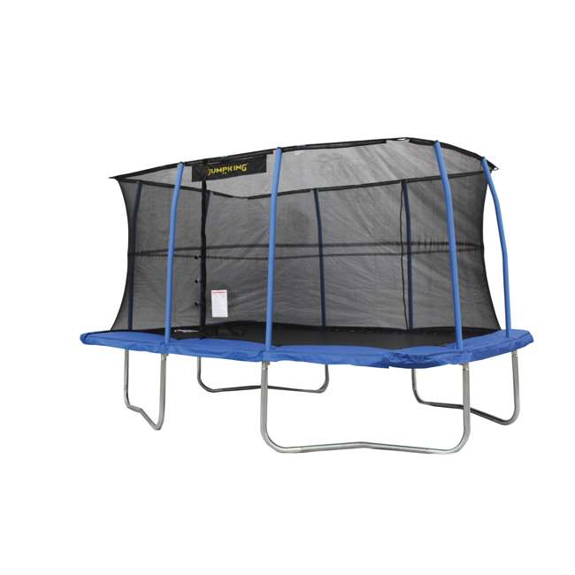 JumpKing 10 X 14 Foot Large Trampoline & Safety Net Wall