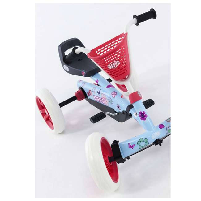 24.30.02.00 Berg Buzzy Bloom Toddler Adjustable Compact Pedal Powered Go Kart, Light Blue  4