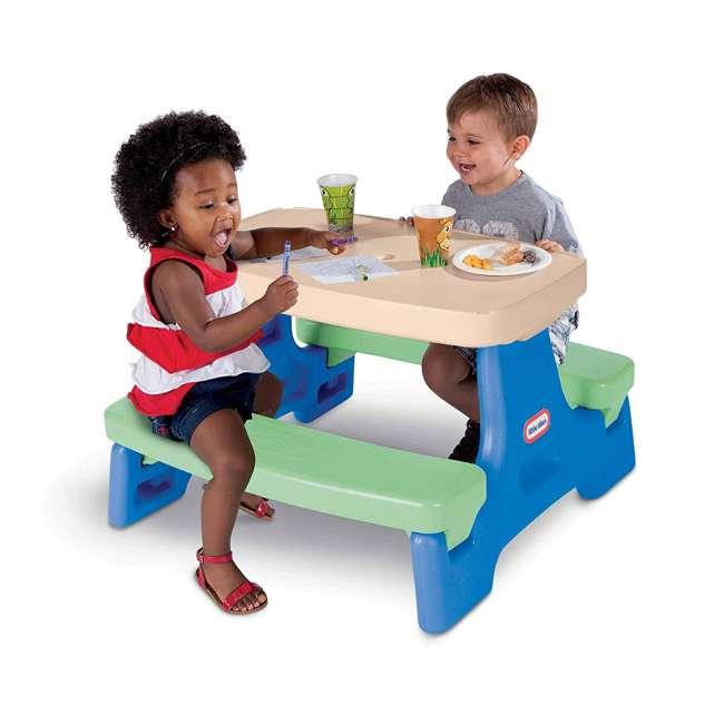 632952M Little Tikes Easy Store Jr. Potable Play Table, Multi Colored 1