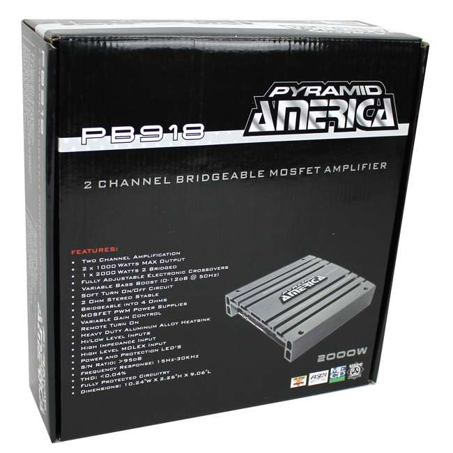 PB918 Pyramid PB918 2000W 2 Channel Amplifier (2 Pack) 8