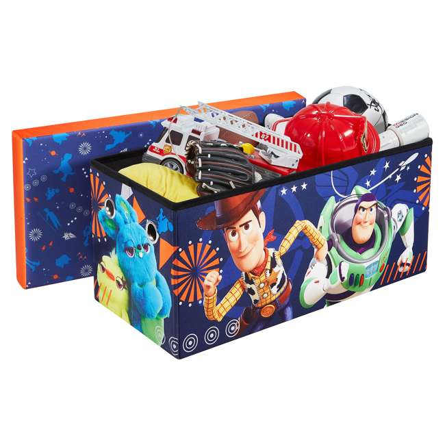 520021-002 Fresh Home Elements 30-Inch Licensed Folding Super Toy Chest & Bench, Toy Story 2