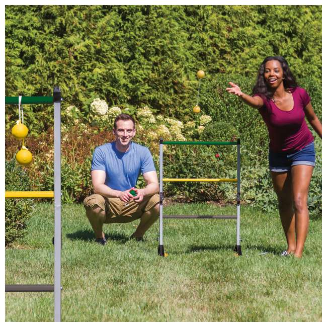 1-1-16636-DS Go Gater Double Steel Ladderball Golf Toss Backyard Game Set 1